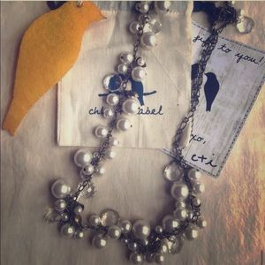 Chloe and Isabel - Pearl + Crystal Drop Necklace